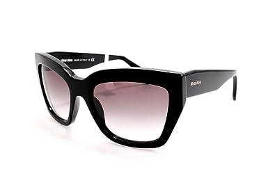Amazon.com: Miu Miu mu01ps sunglasses-1ab/0 a7 Negro (Gris ...