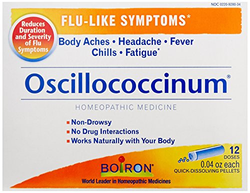 Boiron Oscillococcinum, for Flu-like Symptoms, 12 Count Box of 0.04 Ounce (0.04 Ounce Pellets)