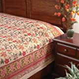 Tropical Garden ~ Colorful Country Red Floral Queen Duvet Cover 90x90