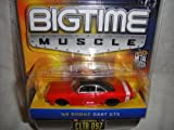 JADA 1:64 SCALE BIG TIME MUSCLE RED AND BLACK 1969 DODGE DART GTS DIE-CAST REPLICA