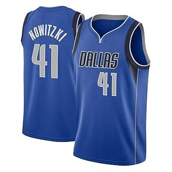 Hombre NBA Dallas Mavericks 41# Nowitzki Retro T-Shirt de ...