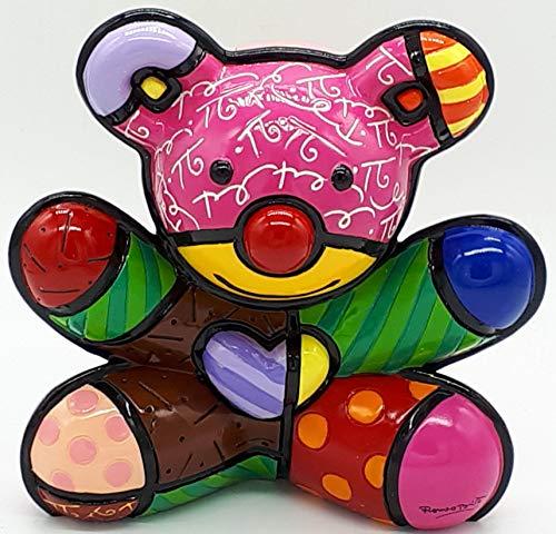 New Romero Britto Fun Bear Ceramic Authentic Figurine Sculpture Pop Art Teddy