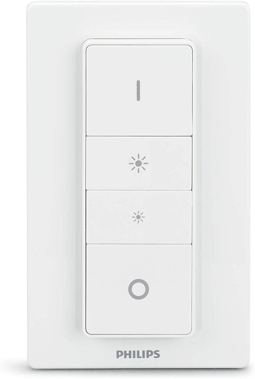 Philips Hue Interruptor / Mando Inteligente Inalámbrico, Portátil, Posibilidad de Montaje en Pared, Compatible con Control por Voz