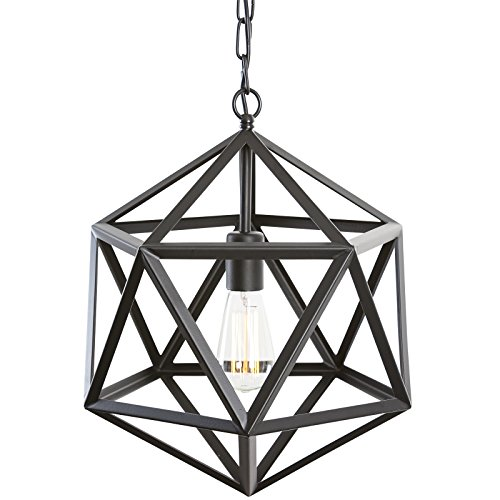 Light Society Geodesic Pendant Light Matte Black Geometric Vintage