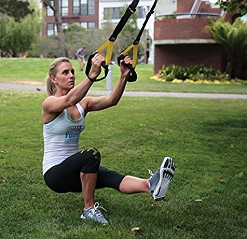 TRX Training – Suspension Trainer Basic Kit + Door Anchor, Complete Full Body Workouts Kit for Home and on the Road