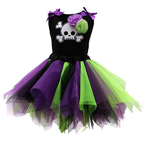 Beide Kids Girls Halloween Dresses Sleeveless T-shirt +