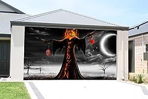 Amazon.com: 3D Garage Door Cover Halloween Decor for