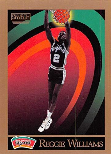 (1990-91 SkyBox Basketball #416 Reggie Williams San Antonio Spurs Official NBA Trading Card)