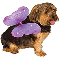 Rubie's Pet Costume Purple Fairy Wings, Medium to Large
