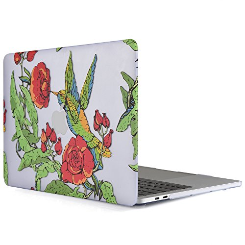 iDOO MacBook Pro 13 Case 2017 & 2016 Release A1706 / A1708, Soft Touch Plastic Hard Case Cover for Newest MacBook Pro 13 inch with / without Touch Bar - Flower