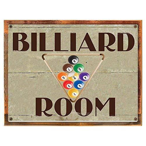 mdrqzdfh Wooden Billiard Sign Wood Framed Billiard Room Metal Sign Game Room Den Man Cave Rack Pool Balls On Reclaimed Rustic Woodsteel Pool Ball Rack
