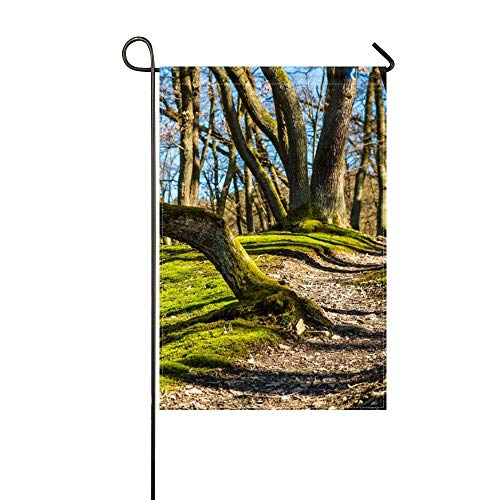 DongGan Garden Flag Trees Grass Moss Shade 12x18 Inches(Without Flagpole)