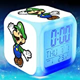 Enjoy Life : Cute Digital Multifunctional Alarm Clock with Glowing Led Lights and Super Mario Sticker, Good Gift for Your Kids, Comes with Bonuses Part 3 (15)