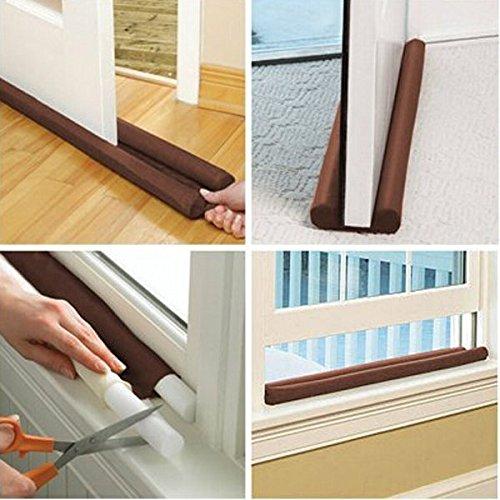 Thanaphat ShopTwin Draft Guard Door Window Air Dust Stopper Energy-saving 85CM