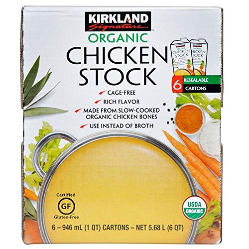 Kirkland Signature Expect More Organic Chicken Stock, 6 x 946 ml