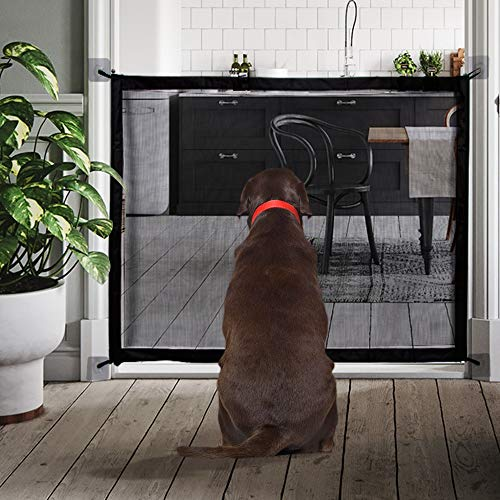 MOO&NOO Magic Gate Pet Safety Gate Portable Folding Guard Install Anywhere for Dog Cat Baby, Fits Spaces Between 32'' to 39'' Wide by MOO&NOO (Image #6)