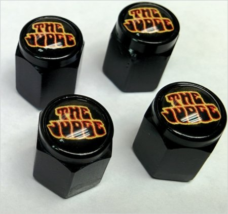 (Pontiac Goat GTO Judge 455 Valve Stem Caps (Black - Black))
