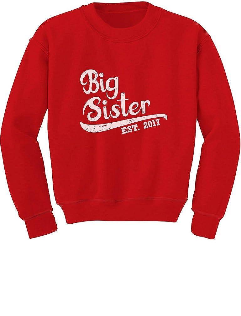 TeeStars - Big Sister Est 2017 - Sibling Gift Idea Toddler/Kids Sweatshirts GhPhZrMgf5