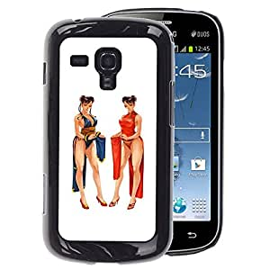 A-type Arte & diseño plástico duro Fundas Cover Cubre Hard Case Cover para Samsung Galaxy S Duos S7562 (Sexy Mortal Fight Computer Fighting Game)