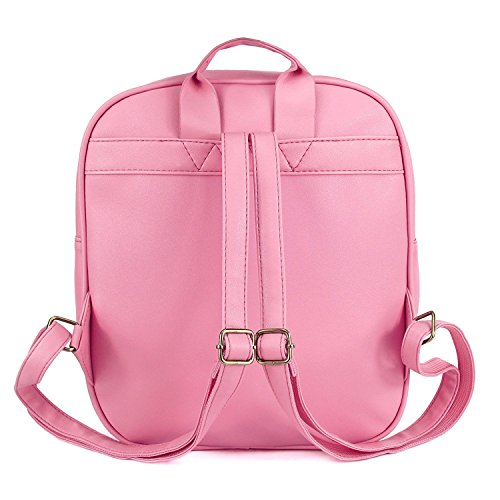 Girls Kawaii Bling Transparent Love Star School Bag Backpack (Pink) by XSCOMSPORT (Image #3)