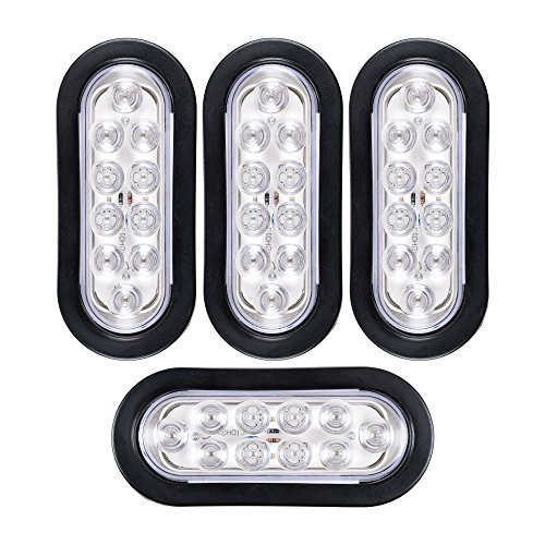 Oval Clear Led Tail Lights in US - 6