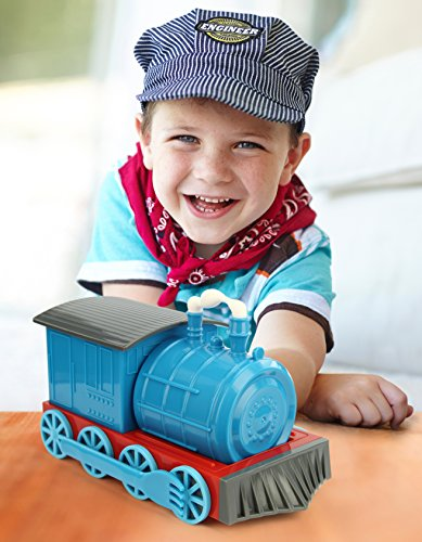 KidsFunwares Chew-Chew Train Place Setting, Blue - Transforms from a Train into a Functional Meal Set - Includes Bowl, Small Plate, Plate, Fork, Spoon, and Cup - Great Gift for Kids - Dishwasher Safe by KidsFunwares (Image #6)
