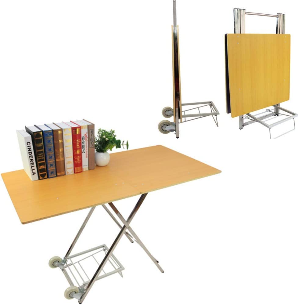 - Multifunction Folding Table With Wheels, Home Decor Tray Table Set
