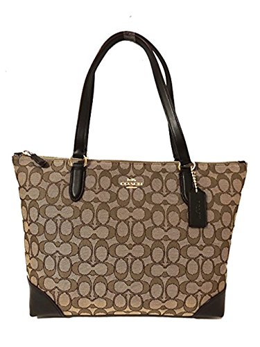Coach Signature Zip Tote Shoulder Handbag ()