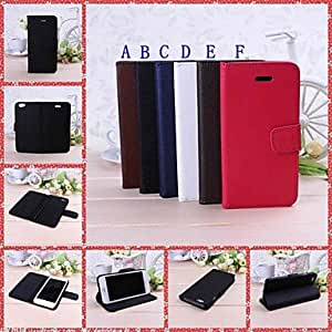 Fashionable Cross Grain Pattern Full Body Leather Case with Stand for iPhone 6 Plus Back Cases ,Color: B
