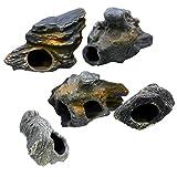 Product review for DR. MOSS Cichlid Stone 5 pc Luxury Set - Ceramic Rock Cave Aquarium Decorations - Fish Tank Decor