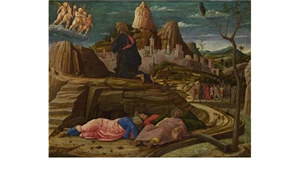 Amazon.com: Andrea Mantegna - The Agony In The Garden, about 1458-60 Oil Painting, 10x13 Inch / 25x33 Cm, printed On Perfect Effect Canvas, this Replica ...