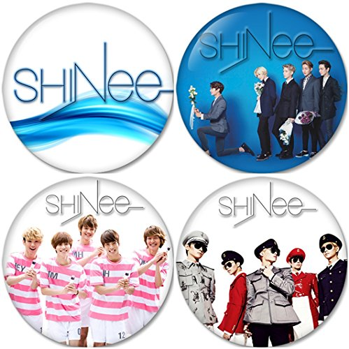 SHINEE SET 2 Buttons Badges/Pin 1.25 Inch (32mm)