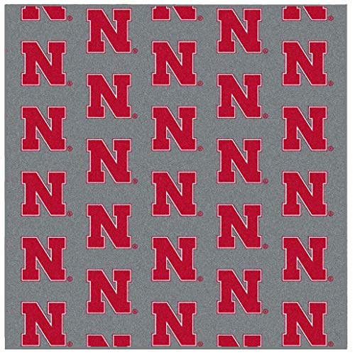 Ambient Rugs NCAA My Team College Repeating Rug Nebraska - 9' Square