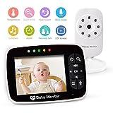 "Video Baby Monitor with 3.5"" Large LCD Screen Night Vision Camera, 2-way Talk, Temperature Sensor, ECO Mode and Long Transmission Range Babebay"
