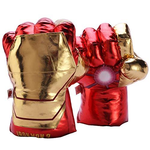 Hulk Thanos Ironman Spiderman Superhero Gloves Fists for Kids, Marvel Superhero Hands Cosplay Costumes Accessories Toys (Ironman)