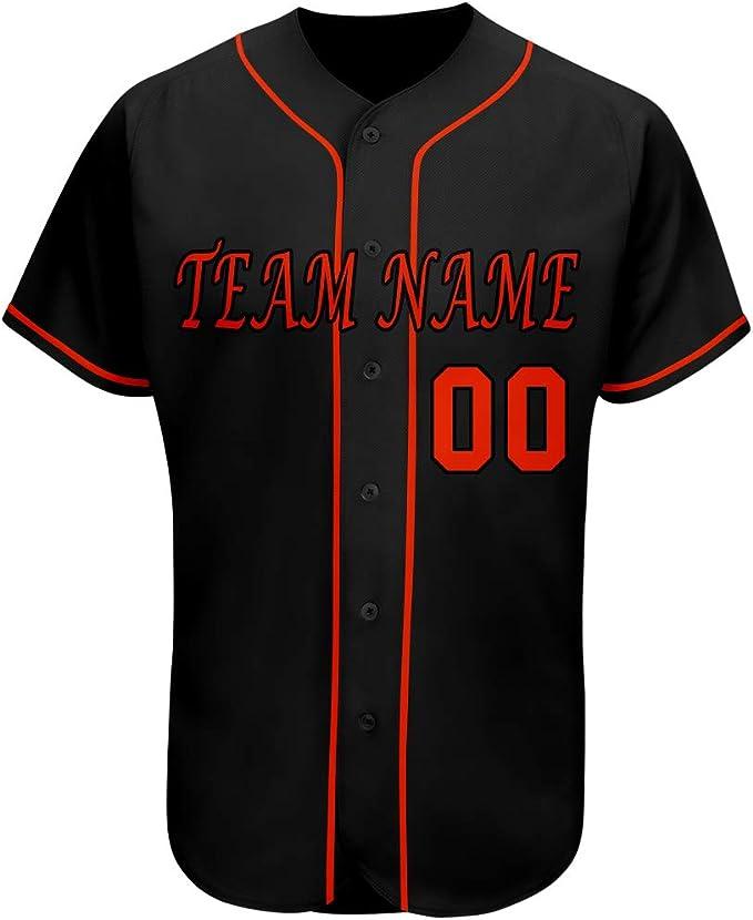 Béisbol personalizado para hombre de manga larga T-Shirt Camisa Camiseta Impreso Personalizado Camiseta