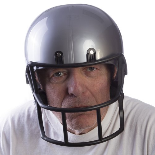 silver football helmet - 8