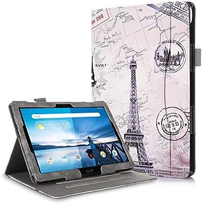 TTVie Funda para Lenovo Tab M10 / P10 - Premium PU Cuero Funda Carcasa con Función de Soporte para Lenovo Tab M10 / P10 - Tablet de 25,6 cm (10.1
