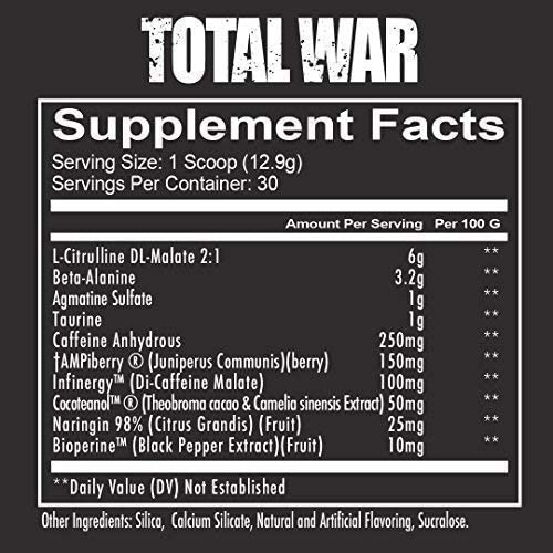 Amazon.com: Redcon1 Total War - Pre Workout, 30 Servings, Boost ...