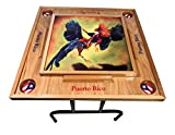 Gallos Domino Table with Puerto Rico Flag For Sale