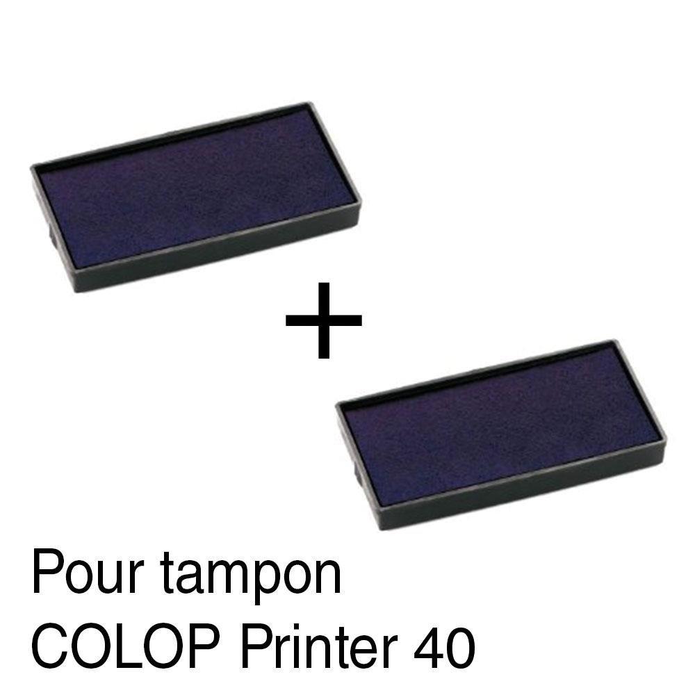2 Cassette di inchiostro ricarica per timbro Colop Printer 40 59 x 23 mm –  Rosso Autre