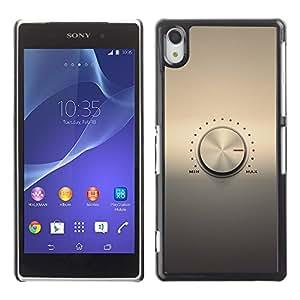 EJOY---Cubierta de la caja de protección la piel dura para el / Sony Xperia Z2 / --Perilla de volumen