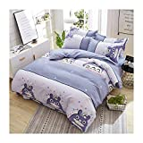 KFZ Girls Kids Rainbow Cat Bed Set Twin Full Queen Size, 1 Duvet Cover (Without Comforter Insert) and 2 Pillow Cases (Rainbow Cat, Pink, Queen 78'x91' 3pcs)