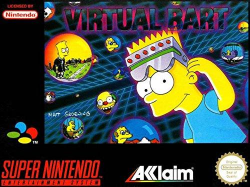 1994 Virtual Bart SNES Simpsosns Video Game Print Ad!
