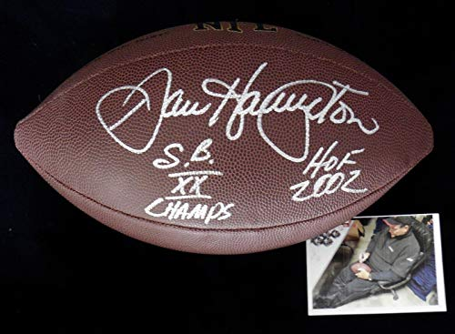 Dan Hampton Autographed Football (chicago Bears) - W/Proof & Coa! - Autographed Footballs