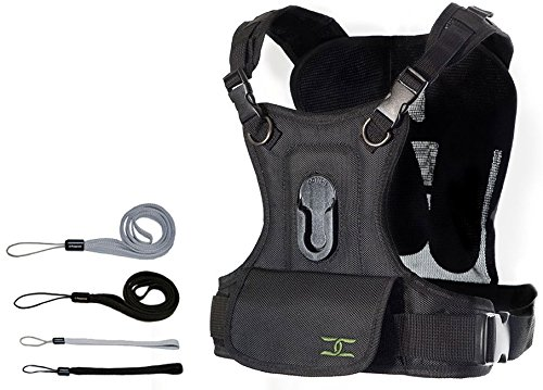 Cotton Carrier Single Camera Vest System - Eliminates Shoulder and Neck Strain and Swinging Cameras + FREE Wrist Strap & Neck Strap Combo Kit … by Cotton Carrier