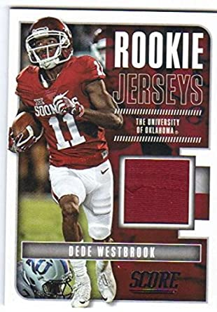 8b99438c2 Amazon.com  2017 Panini Score Football Rookie Jersey Relic  6 Dede ...
