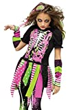 Fun World Big Girl's Medium/neon Zombie Chld Cstm Childrens Costume, multi/color, Medium (8-10)