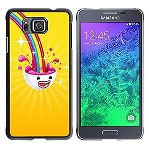 // PHONE CASE GIFT // Duro Estuche protector PC Cáscara Plástico Carcasa Funda Hard Protective Case for Samsung ALPHA G850 / Rainbow on me /