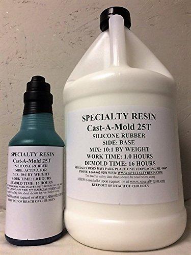 Cast-A-Mold 25T Silicone Rubber (1/2 Gallon) (Mold Silicone Rtv)